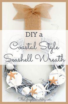 DIY - A Coastal Style Seashell Wreath