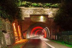 Wuppertal Tanztunnel auf der Nordbahntrasse