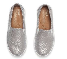 #metallic #reptile #footwear #designs for #kids created for #TOMS #shoes