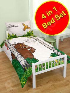 Gruffalo 'Help' 4 in 1 Junior Bed Set (Duvet + Pillow + Covers)