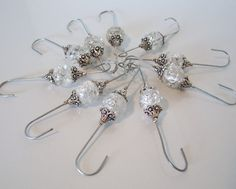 Fancy Bead  Wired Ornament Hangersooohhhh a must make for this