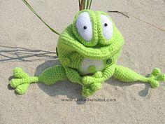 Frog Kvolya Amigurumi Crochet Pattern