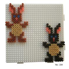 Easter bunnies hama perler pattern - HAMA