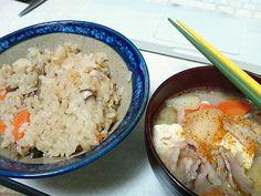 鶏飯と豚汁