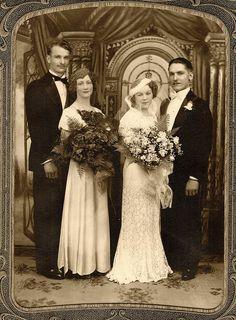 Beautiful 1930s wedding photograph