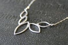 Silver Marquis Necklace