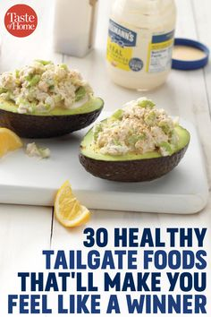 30 Healthy Tailgate Foods That'll Make You Feel Like a Healthy Tailgate Foods That'll Make You Feel Like a WinnerMini-Wrap-Rollen von carschu Tailgating Recipes, Tailgate Food, Strawberry Salsa, Chicken Sandwich Recipes, Vegetarian Recipes, Healthy Recipes, Recipe 30, Football Food, How To Make Salad