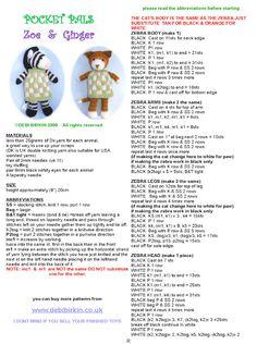 Zoë & Ginger 1 Crochet Doll Pattern, Crochet Toys Patterns, Amigurumi Patterns, Baby Patterns, Doll Patterns, Knitted Stuffed Animals, Knitted Animals, Knitting For Kids, Baby Knitting
