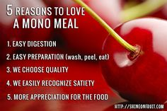 5 reasons to love a mono meal | shinewithnature.com