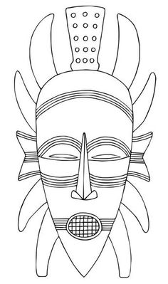african mask template coloring for kids Africa clipart african mask - pin to your gallery. Explore what was found for the africa clipart african mask This image is designed to help you with drawing or tracing this African mask. African Art Projects, African Crafts, African Art For Kids, Afrique Art, Mask Drawing, Art Africain, Masks Art, African Masks, Art Plastique