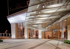 Pergola Kits Attached To House Key: 5342792829 Porte Cochere, Canopy Architecture, Facade Architecture, Entrance Design, Facade Design, Mall Facade, Facade Lighting, Lighting Design, Hotel Canopy
