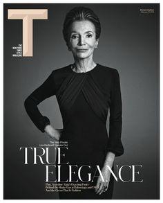 The New York Times Style Magazine Women's Fashion February 2013 Lee Radziwill by Mario Sorrenti