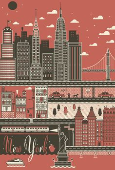 City Poster Set : I Love Dust: via stewf, makes me miss new york