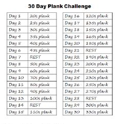 30day squat plank and crunches challenge
