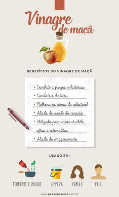 Vinagre de maçã: 6 benefícios desse elixir mágico para sua saúde Healthy Nutrition, Healthy Life, Healthy Recipes, Healthy Detox, Healthy Foods, Herbal Medicine, Cooking Time, Food Hacks, Natural Health