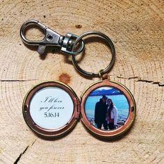 Men's Custom Photo Locket - I Will Always Be Your Little Girl