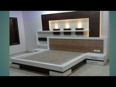Bed Headboard Design, Bedroom Wall Designs, Wardrobe Design Bedroom, Bedroom Closet Design, Bedroom Furniture Design, Home Room Design, New Bed Designs, Bed Designs With Storage, Double Bed Designs