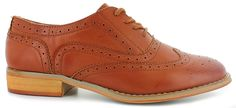 This Classic Oxford Features:<br/>faux-leather upper, lace-up front, rounded-toe construction, wingtip and brogue detailing, synthetic outsole, 1-inch block heel
