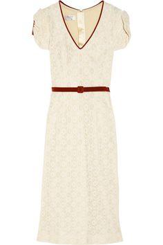 L'Wren Scott Velvet-trimmed lace dress