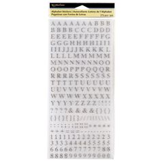 <div>Crafting your special memories! These alphabet stickers will work great in telling your uni...