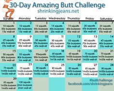 30-Day Amazing Butt Challenge brought to you by @shrinkingjeans  Looking to tone…