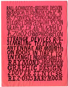 MOMA Ray Johnson Designs July 2–September 29, 2014  (Ray Johnson. Promotional flyer. c. 1956–60)