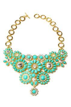 Amrita Singh Crystal Cocoa Bib Necklace
