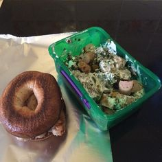 Messy but tasty breakfast of chicken sausage bagel with a side dish of chicken sausage kale mushrooms pepper and soured cream. Wolfed it down on the train after legs day #90daysssplan #thebodycoach #leanin15 #friday #breakfast #brekkie #chickensausage #heck #bagel #kale #mushrooms #peppers #souredcream #sweetchillisauce #lucybeecoconut #lucybeecoconutoil #trainingday #legsday #cleanandlean #cleanandleanwarrior #healthiswealth #healthy #active #fitfam #fitforlife #fitlondoners #cycletwo by…