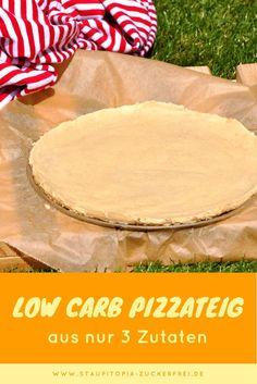 Der einfachste Low Carb Pizzateig! Diesen Low Carb Pizzateig kannst du extrem schnell selbst machen und zudem ist er auch noch gesund. Die einzigen 3 Zutaten die du für diesen Low Carb Pizzateig benötigst sind Mandelmehl, Joghurt und Guarkernmehl. Perfekt also für ein wirklich schnelles Low Carb Abendessen.