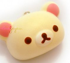 Super squishy and looks just like a real bread bun with Korilakkuma's face on, it will keep its shape after squishing. Hang it on your bag, mobile phone, digital camera, the possibilities are endless! This is an extremely rare squishy to get your hands on! Approximate size: 8cm x 5cm x 4cm Super squishy and looks just like a real bread bun with Hello Kitty's face on, it will keep its shape after squishing. Hang it on your bag, mobile phone, digital camera, the possibilities are endless!