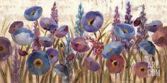 Lupines and Poppies Art Print by Silvia Vassileva at Art.com