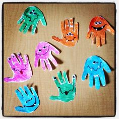 Handprint monsters