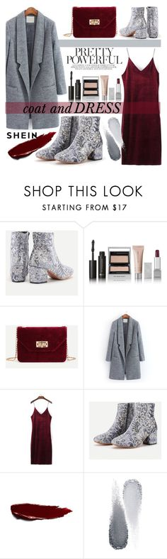 """Coat and DRESS /shein"" by fashiondiary5 ❤ liked on Polyvore featuring Burberry, Clé de Peau Beauté and shein"