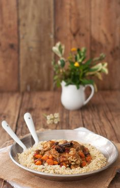 La cocina de Tesa: Pollo con cuscus con aromas marroquíes