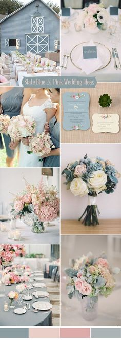 slate blue and blush