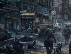 Apocalypse now: Russian artist transforms real-life photographs to show how cities might look after the end of the world Science Fiction, Post Apocalypse, Apocalypse Aesthetic, Apocalypse World, City Art, March Of Empire, Le Shield, Rpg Cyberpunk, Dystopian Art