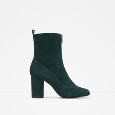 HIGH HEEL LEATHER ANKLE BOOT WITH ZIP from Zara