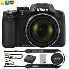 Nikon COOLPIX P510 16.1MP 42x Opt Zoom 3.0 LCD Digital Camera - Black (Certified Refurbished)