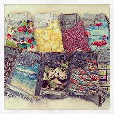 Brick Vintage Re-Work denim shorts