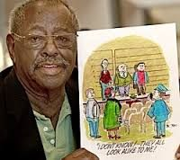 """RIP, another African American pioneer ==> Morris """"Morrie"""" Turner (December 11, 1923 – January 25, 2014) was a syndicated cartoonist, creator of the strip Wee Pals. Turner was the first nationally syndicated African-American cartoonist."""