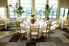 Harbor View Center - Hawaii Venues - Classic chic indoor wedding reception venue