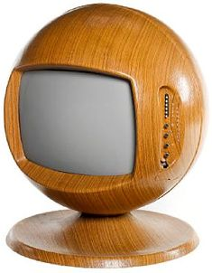 "Keracolor 26"" sphere colour television, rare teak effect finish, 1970"