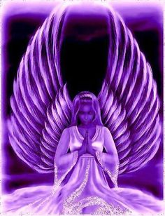 Purple Angel, me all the way! Purple Art, Purple Love, All Things Purple, Shades Of Purple, Deep Purple, Purple And Black, Pink Purple, Purple Stuff, I Believe In Angels