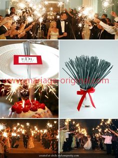 cierges magiques pour faire une belle entre et compenser labsence de feu d - Cierges Magiques Mariage