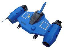 LEGO Starfighter bleu by legodrome