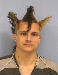 mohawk bad hair funny hairstyles fashion fails awkward family photos bad family tattoos worst hair dos terrible hair ugly ugliest hair b. Weird Haircuts, Haircuts For Men, Horrible Haircuts, Funny Mugshots, Afro, Hair Fails, Awkward Family Photos, Hair Photo, Mug Shots