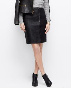 Coated Zip Skirt | Ann Taylor (purchased)