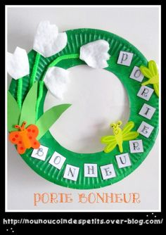.. Couronne Muguet .. Art Projects, Projects To Try, 1. Mai, Mom Day, Diy Gifts, Activities For Kids, Origami, Jar, Blog