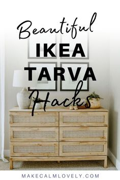 The IKEA Tarva dresser is so versatile and so easy to hack. See these great hacks using Tarva here