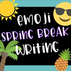 You can use this free Emoji Spring Break Writing activity when your students return from break. Students will love telling you about their break using emojis! This resource has two options for the title one is Spring Break Scoop and the other is #Springbreak.